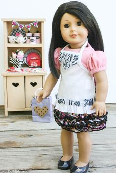 A Doll Apron You can Decorate - Doll It Up