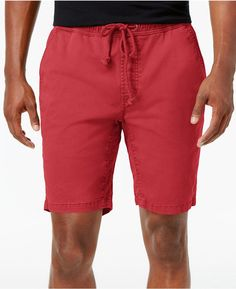 American Rag Men's Classic Fit Stretch Drawstring Jogger Shorts, Created for Macy's