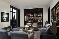 sala de estar contemporánea por Robert Granoff