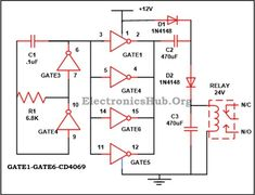 Voltage Doubler Circuit: The circuit which we have explained below is used to generate the output voltage whose magnitude is just double of the supplied input voltage. In our circuit, we have supplied 12 volt in the input terminal and receives 24 volts approximately at the output terminal.  For complete information, visit http://www.electronicshub.org/12v-24v-dc-converter-circuit/