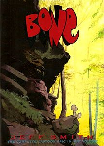 """Bone starts off simple, with the Bone cousins having been exiled from their town, and ends up becoming a complex narrative of magical realism without rushing into it. It's all-ages-friendly, but not childish: at no point does it """"dumb things down"""" for its readers. This was the series that introduced me to the concept of the modern epic as seen in graphic literature.    Works Consulted: Kannenberg, Gene. 500 Essential Graphic Novels: the Ultimate Guide. New York: Collins Design, 2008. Print."""