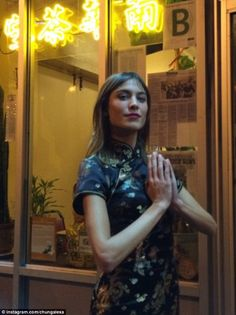 Alexa Chung kicked off her birthday celebrations with a karaoke session after dining out in China Town.  (November 2014)