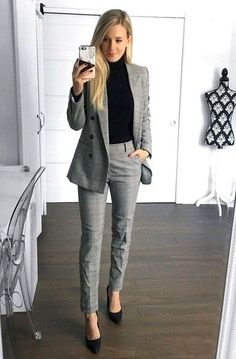 Job Interview Outfits For Women, Office Outfits Women, Komplette Outfits, Corporate Outfits For Women, Interview Shoes, Fashion Outfits, Jean Outfits, Fashion Clothes, Womens Fashion