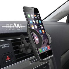 Beam Electronics Universal Smartphone Car Air Vent Mount Holder Cradle Compatible with iPhone X 8 8 Plus 7 7 Plus SE 6 Plus 6 5 4 Samsung Galaxy LG Nexus Sony Nokia and More… Smartphone Car Mount, Cell Phone Car Mount, Smartphone Holder, Cell Phone Holder, Iphone Holder, Car Holder, Air Vent, Backup Camera, Samsung Galaxy S4