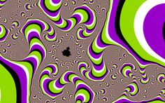 Some visual illusions depend on some eye movement so wander around this for a psychedelic experience. This reminds me of peripheral drift illusions but I'm not sure it satisfies the current explanation for those.