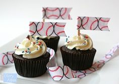 ribbon cupcake toppers
