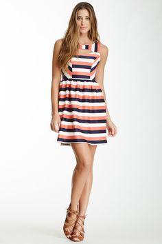 Soprano Stripe Tank Skater Dress