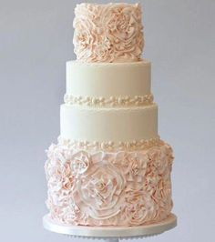 """Saying 'I Do"""" With A Fabulous Wedding Cake. And no, it's not those fake wedding cakes that the hotels/restaurants usually provide too. We said """"I Do"""" with a real, and very fabulous customised wedding cake! Blush Wedding Cakes, Wedding Cake Fresh Flowers, Buttercream Wedding Cake, Cool Wedding Cakes, Wedding Cake Designs, Chic Wedding, Trendy Wedding, Wedding Ideas, Wedding Unique"""