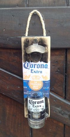 Corona Beer bottle wall opener by GlassNthings420 on Etsy