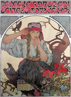 "Plakat ""Pévecké sdruzeni ucitelu moravskych"" (Gesangsverein mährischer Lehrer)"