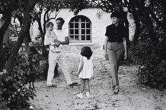 Francois Truffaut, Madeleine,Eva et Laura à Saint Paul de Vence en 1962