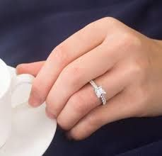 image result for wedding rings for women on hand - Wedding Rings On Hands