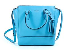 Coach Robin Blue Legacy Leather Mini Tanner Cross body Handbag
