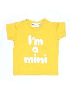 Yellow Im a mini T-shirt - Mini Rodini