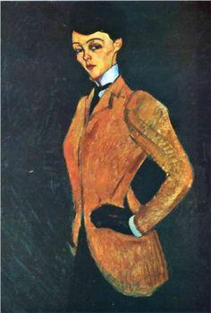 Amedeo Modigliani (1884 -1920)   Expressionism   The Amazon - 1909