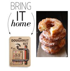 """""""Bring It Home: Doughnut Tasting Kit"""" by polyvore-editorial ❤ liked on Polyvore featuring interior, interiors, interior design, home, home decor, interior decorating, 33 Books Co. and bringithome"""