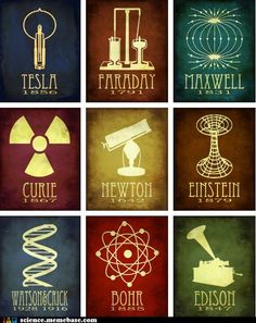 Great graphics representing our greatest scientists.