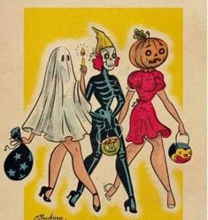 ✨🎃💀🕸️👻 every spooky, pretty, yummy, cute, and fun side of halloween. Retro Halloween, Theme Halloween, Fall Halloween, Halloween Costumes, Happy Halloween, Halloween Quotes, Vintage Halloween Images, Halloween Things To Draw, 1950s Costumes