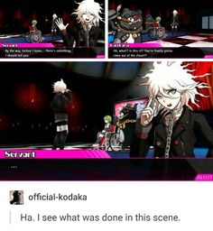 Read 9 from the story « Memes de. Danganronpa Funny, Danganronpa Characters, Haha Funny, Funny Memes, Nagito Komaeda, Trigger Happy, Cursed Images, Your Turn, Manga