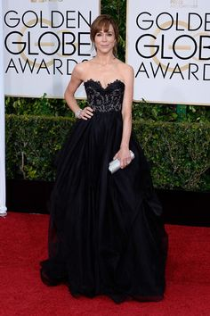Frances O'Connor.  Another dress on the 2015 Golden Globes worst dressed list that I love....