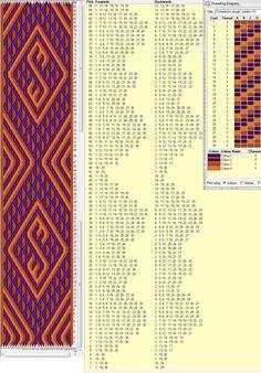 30 tarjetas, 4 colores, repite dibujo cada 44 movimientos // sed_105a ༺❁