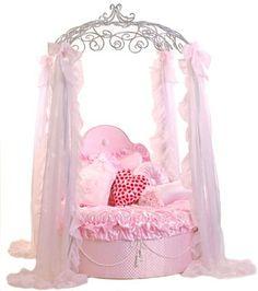 Frette Hollywood Junior Bed Frame Only! Pink Furniture, Dog Furniture, Puppy Beds, Pet Beds, Princess Dog Bed, Princess Chair, Princess Canopy, Pink Princess, Little Girl Beds