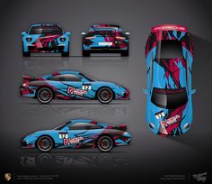Approved livery design project for Porsche Club Cup Russland