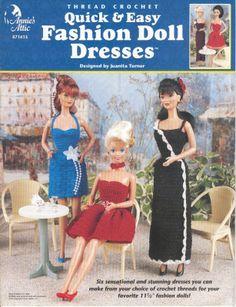 Barbie, Fashion Doll, CROCHET, pattern http://knits4kids.com/collection-en/library/album-view?aid=1928