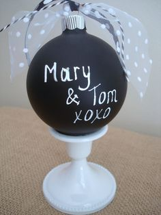 Chalkboard Christmas OrnamentPersonalize with by BurlapAndBlue