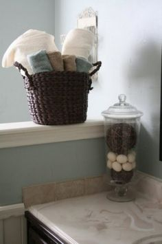 320 * Sycamore: home tour: before and after bathroom - House - Bathroom Decor Bathroom Spa, Bathroom Colors, Small Bathroom, Bathroom Ideas, Master Bathroom, Bathroom Accents, Bathrooms Decor, Copper Bathroom, Downstairs Bathroom