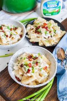 You Have Meals Poisoning More Normally Than You're Thinking That This One-Pot Ranch Chicken Pasta Is An Easy-To-Make Dish That Will Serve Many Peopleeasily Bring It Along To A Potluck Gathering From Healthy Meals For Two, Quick Easy Meals, Easy Dinner Recipes, Pasta Recipes, Cooking Recipes, Healthy Recipes, Yummy Recipes, Chicken Recipes, Ranch Chicken