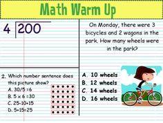 Math Warm Up: April/May: Grade 4