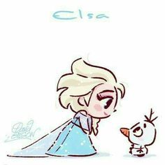 Elsa Chibi in Disney Frozen❗️🔅🔆🔅 Disney Pixar, Disney E Dreamworks, Disney Films, Disney Animation, Disney Cartoons, Disney Art, Disney Characters, Disney Princesses, Funny Disney