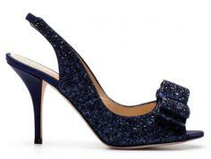 Zapato de novia en color azul metálico - Foto Kate Spade