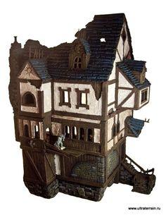 Cities Of Death, Mordheim, Ruin, Scratch Build, Terrain, Town, Urban - Big Mordheim house - Gallery - DakkaDakka   Play like you've got a pair of Dakkas.