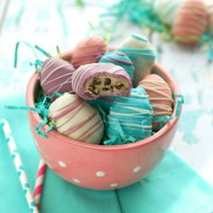 Easter Egg Cookie Dough Truffles by Wine and Glue