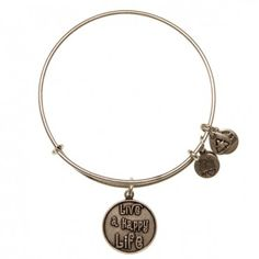 Live a Happy Life Charm Bangle