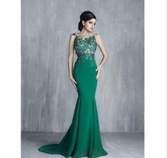 Green Mermaid Prom Dresses 2018 Jewel Sheer Neck Illusion Appliques Formal Evening Gowns Cheap Long Party Dress sold by loverlovebridal. Shop more products from loverlovebridal on Storenvy, the home of independent small businesses all over the world. Prom Dresses 2018, Party Dresses, Dresses 2016, Prom Gowns, Mermaid Evening Dresses, Evening Gowns, Cheap Gowns, Lela Rose, Applique Dress