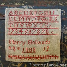 Florry Hollands 1888 ~ Pineberry Lane