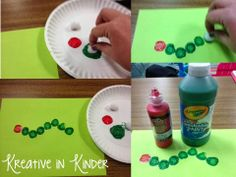 The Very Hungry Caterpillar art page!
