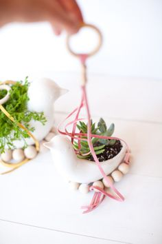 DIY Hanging Planters by @Audrey ♥ This Little Street + @elise West elm