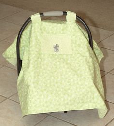 Baby Car Seat Cover in Green by Debsflorals on Etsy, $32.99