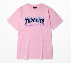 Fashion Tshirt Men Brand 2016 Summer Thrasher Cotton T-shirt Skateboard Magzien Hip Hop Hot Tops Tee Shirts Thrasher S-3XL