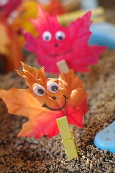 Fall Friends in the Sensory Table
