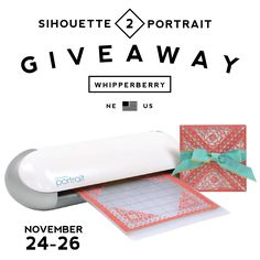 Silhouette Portrait GIVEAWAY on WhipperBerry!
