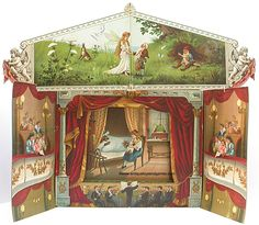 Fairy_Tales_Panorama Diy Paper, Paper Art, Paper Crafts, Vintage Crafts, Vintage Paper, Vintage Toys, Water Fairy, Puppet Toys, Toy Theatre