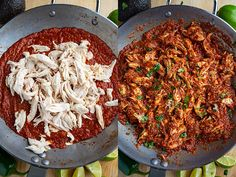 Chicken Tinga Tacos Onion Recipes, Best Chicken Recipes, Pork Recipes, New Recipes, Cooking Recipes, Healthy Recipes, Healthy Food, Poached Chicken