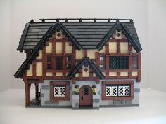 Lego Christmas Train, Lego Christmas Village, Lego Village, Village Houses, Christmas Villages, Lego Friends Elves, Lego Tree, Lego Modular, Lego Castle