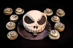 nightmare before christmas cake and cupcakes