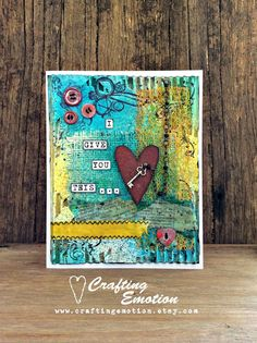 Handmade greeting card Love card Engagement by CraftingEmotion